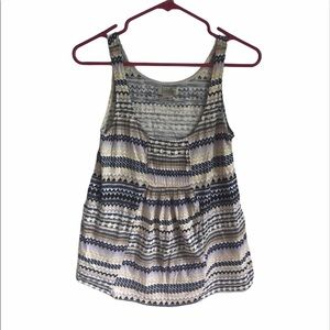 Lucky Brand Aztec Striped Tank Top